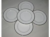 Set of 5 Royal Worcester saucers in mint condition