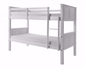 ''BRAZILIAN WOOD'' High Quality Wooden Pine wood Bunk Bed Frame WITH OPTION FOR Mattress