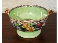 Vintage Maling 1930s Bonbon bowl in Spring Time Green pattern - Collectors piece