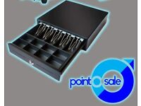 Cash drawer NEW for epos system 12v or 24v standard size (4 note/8 coin/41x42x10cm)