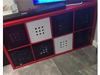High Gloss Red Kallax Shelving Unit Ikea like new