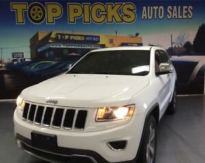 2015 Jeep Grand Cherokee LIMITED, 4X4, LEATHER, SUNROOF, NAVIGAT