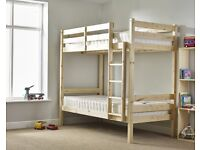 Heavy Duty Bunk Bed - 3ft single solid pine bunk bed