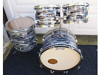 """Classic Ludwig """"Rockers"""" drums 22,16,13,12 - £550."""