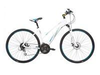 "Women's, Indigo Verso X3 Hybrid Bike, 17.5"" aluminium frame, 24 speed Front Suspension, As New"