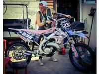 Tm 125 dirtbike race tuned road registered, mx not ktm Honda yz