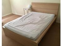 MALM Double Bed, Light Oak