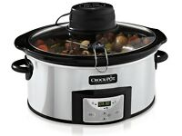 **FREE DELIVERY!**Crock-Pot 5.7 Litre Digital Slow Cooker with Auto-Stir in Stainless Steel