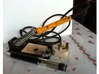 18W Antex Soldering Iron with Stand, Solder and Desolder Pump - Bargain £ 18
