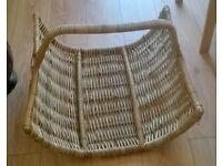 Extra Large vintage wicker rattan log basket