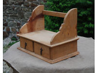 Antique - English Pine 'Candle Box' Hanging Wall Unit - *Free Local Delivery