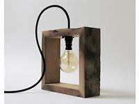 Rustic Vintage Oak Lamp