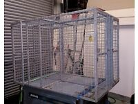 Dog transport cage crate kennel 4 berth, heavy duty galvanised. Security patrols German Shepherd