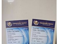 Two tickets for India vs Sri lanka at kia oval icc champions trophy