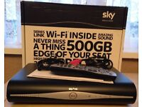 SKY HD BOX-WITH BUILT IN WI FI-AS NEW- 6 WKS OLD ,,,WORKS WITHOUT SKY CONTRACT