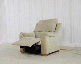 Designer Albany Fabric Manual rec arm chair (74) £299