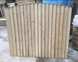 🌳 •New• Pressure Treated Feather Edge Arch Top Wooden Garden Fence Panels