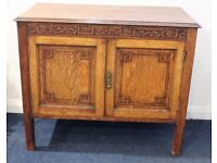 Vintage compact sideboard, oak, refurbished.