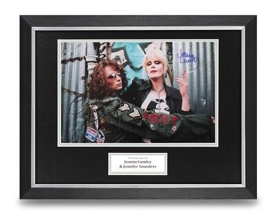 Lumley & Saunders Signed 16x12 Framed Photo Display Abs Fab Autograph + COA