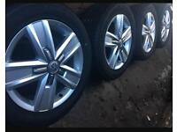"Brand New 2017 Genuine VW Transporter T6 T5 17"" alloy wheels +NEW Continental tyres T32 T30 CAN POST"