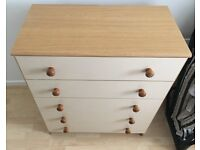 Chest of 5 Drawers and matching Wardrobe