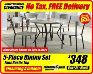 DINING ROOMS-OVERSTOCK CLEARANCE-OPEN 12-5 TODAY CALL 587.460.7424