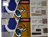 NFL Tickets - Indianaopolis Colts v Jacksonville Jaguars, Premium Club Wembley
