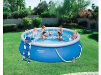 Bestway Inflatable Fast Set Swimming Pool Set, 15 feet x 48 inch
