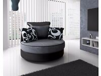 Farrow Cuddle chair Black and silver swirl