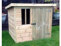 4x4 Wooden Dog Kennel Pressure Treated Fully T&G - IN STOCK NOW!!!