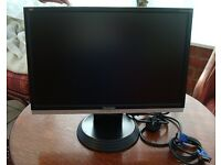 """Viewsonic Monitor 19"""" great condition with leads. Screen immaculate."""