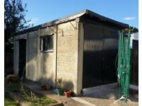 Free concrete garage available for collection