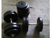 Dumbbells with weights