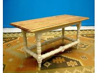 DINING / LIVING ROOM SHABBY CHIC SOLID OLD CHESTNUT WOOD COFFEE TABLE
