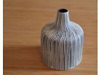 Striped decorative jar
