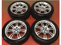 18'' GENUINE BMW 5 SERIES F10 M SPORT ALLOY WHEELS TYRES 5X120 FITMENT 520D 530D 535D