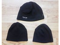 As New Mens One Size Black Trio of Hats | Various Brands | Winter Cold Warm | Leeds