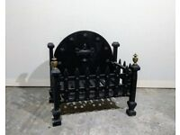Cast iron fireplace grate / open fire