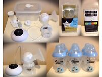 Tommee Tippee Closer to Nature bottles, Teats, Electric Breast Pump Set