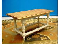 DINING / LIVING ROOM SHABBY CHIC SOLID OLD PINE WOOD COFFEE TABLE