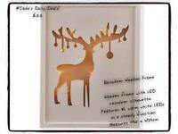 reindeer wooden frame (new)