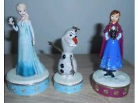 WANTED: 3 Disney Trinket Box empty packaging boxes for Elsa, Anna and Olaf. Willing to pay.