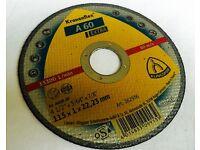"25 x KLINGSPOR 115 x 1mm ( 4 1/2"" ) Cutting Discs A-60 Extra angle grinder wheel"