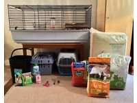 Guinea Pig / Rabbit Indoor Cage with Table