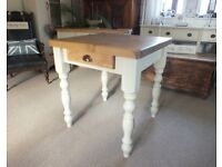 Country Pine Farmhouse Shabby Chic Kitchen/Dining Table with Handy Drawer