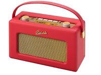 Radio Roberts Revival RD60 Red Portable DAB FM RDS Digital Retro Radio Red NEW in box