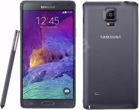 Samsung Galaxy Note 4 Black, White (Unlocked) Smartphone in good condition