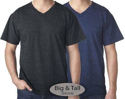 Falcon Bay Big & Tall Men's Heather V-Neck T-Shirt 3XL - 8XL 2XLT - 6XLT - Falcon Bay Big And Tall T-shirt