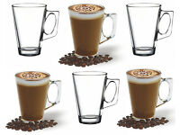 Gift Box of 6 Latte Glasses - Latte Coffee Glass Cups - 235ml (8oz) - Great Gift !