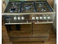 BEAUMATIC STAINLESS STEEL DUAL FUEL RANGE 90